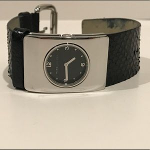 Marc by Marc Jacobs Black Alligator & Silver Watch